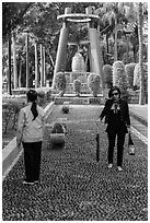 Foot massage path, 2-28 Peace Park. Taipei, Taiwan ( black and white)