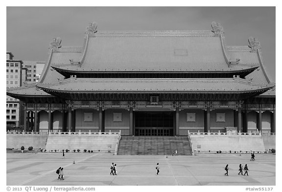 National Concert Hall. Taipei, Taiwan (black and white)