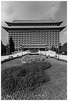 Yuanshan Grand Hotel, in Chinese classical style. Taipei, Taiwan ( black and white)