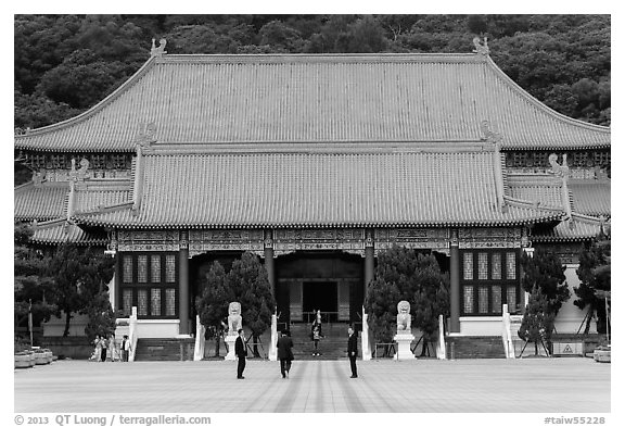 Main shrine, Martyrs Shrine. Taipei, Taiwan (black and white)