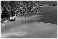 Turquoise waters and Quingshui cliffs. Taroko National Park, Taiwan ( black and white)