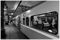 Train, Hualien Station. Taiwan ( black and white)