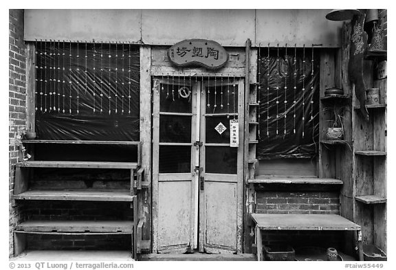 Old storefront. Lukang, Taiwan (black and white)