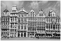 Baroque Guild houses, Grand Place. Brussels, Belgium ( black and white)
