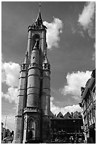 Beffroi, the oldest in the country. Tournai, Belgium ( black and white)