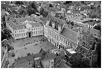 The Burg. Bruges, Belgium ( black and white)