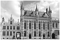 Stadhuis, Belgium's oldest town hall. Bruges, Belgium ( black and white)