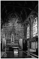 Upper Chapel of the Heilig-Bloedbasiliek (Basilica of Holy Blood). Bruges, Belgium ( black and white)