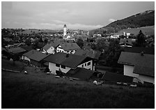 View of Nesselwang. Bavaria, Germany ( black and white)
