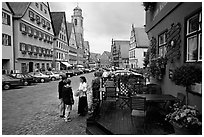 Main plaza,  Dinkelsbuhl. Bavaria, Germany ( black and white)