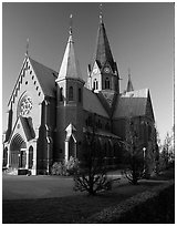 Cathedral. Gotaland, Sweden ( black and white)