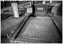 Graves in Gamla Uppsala. Uppland, Sweden (black and white)