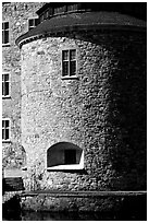 Tower of the Orebro slott, Orebro. Central Sweden (black and white)