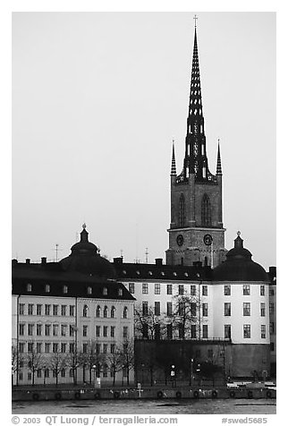 Riddarholmskyrkan. Stockholm, Sweden (black and white)