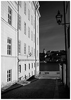 Looking out to the Malaren from Gamla Stan. Stockholm, Sweden ( black and white)