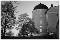 Uppsala castle. Uppland, Sweden (black and white)