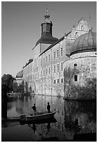 Renaissance castle Vadstena slott. Gotaland, Sweden (black and white)