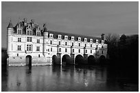 Chenonceaux chateau. Loire Valley, France (black and white)