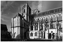 Saint-Etienne Cathedral. Bourges, Berry, France ( black and white)
