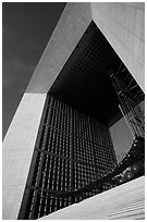 Detail of Arche de la Defense. France (black and white)