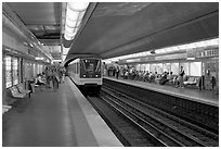Franklin Roosevelt subway station. Paris, France ( black and white)