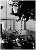 Street scene in Vallauris. Maritime Alps, France ( black and white)