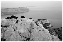 Near the Grande Candelle at dawn. Marseille, France ( black and white)