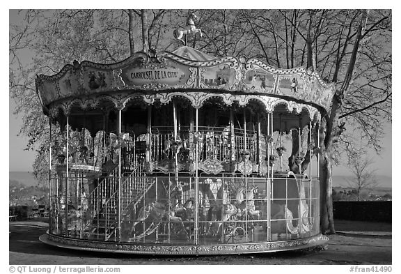 19th century merry-go-round. Carcassonne, France