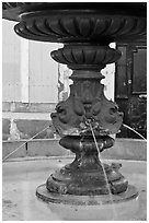 Fountain, old town. Aix-en-Provence, France ( black and white)