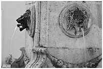 Fountain detail. Aix-en-Provence, France ( black and white)