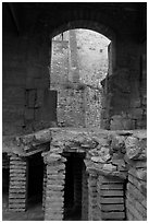 Detail of Roman Bath. Arles, Provence, France ( black and white)
