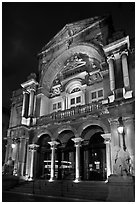 Theatre at night. Avignon, Provence, France ( black and white)