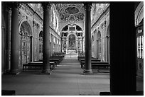 Chapelle de la Trinite, lower level, Chateau de Fontainebleau. France ( black and white)