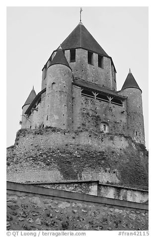 Caesar's Tower, Provins. France (black and white)