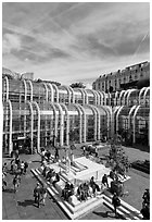 Forum des Halles shopping center. Paris, France (black and white)