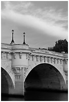 Street lights on Pont Neuf. Paris, France ( black and white)