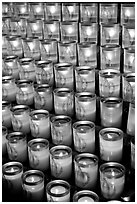 Candles, Notre-Dame cathedral. Paris, France (black and white)