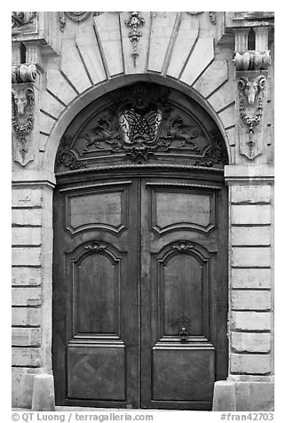 Black And White Picture Photo Ancient Wooden Door Le