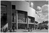Opera Bastille. Paris, France (black and white)