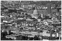 The Quartier Latin seen from the Montparnasse Tower, late afternoon. Quartier Latin, Paris, France ( black and white)