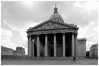 Pantheon. Quartier Latin, Paris, France (black and white)
