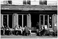 Cafe, Montmartre. Paris, France (black and white)