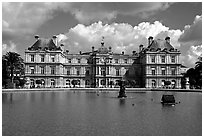 Palais du Luxembourg. Quartier Latin, Paris, France (black and white)