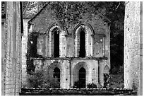 Chapel, Fontenay Abbey. Burgundy, France (black and white)