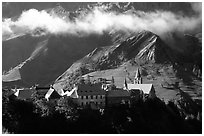 Village of La Grave. France (black and white)