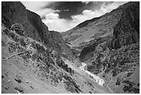 Tsarap River valley, Zanskar, Jammu and Kashmir. India ( black and white)