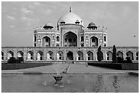 Humayun's tomb. New Delhi, India (black and white)