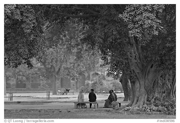 black and white picture  photo  gardens of humayun u0026 39 s tomb  new delhi  india