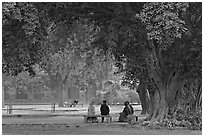 Gardens of Humayun's tomb. New Delhi, India ( black and white)