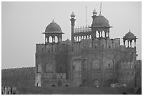 Lahore Gate at dawn. New Delhi, India ( black and white)